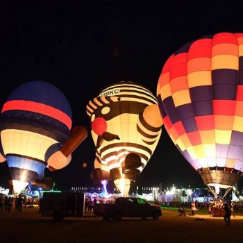 Night time balloon Glow